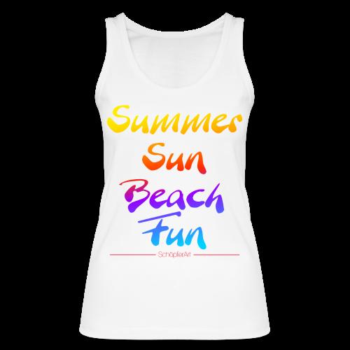Summer Sun Beach Fun -Woman - Frauen Bio Tank Top von Stanley & Stella