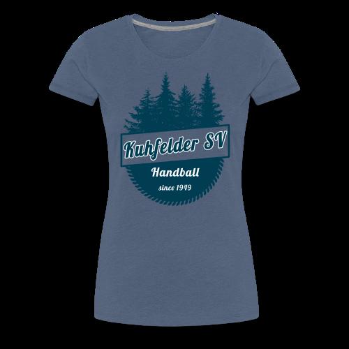 Kuhfelder SV Frauen Premium T-Shirt vintage Wald - Frauen Premium T-Shirt