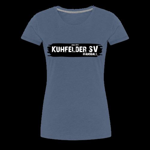 Kuhfelder SV Frauen Premium T-Shirt Schriftzug - Frauen Premium T-Shirt