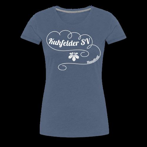 Kuhfelder SV Frauen Premium T-Shirt vintage Blatt - Frauen Premium T-Shirt