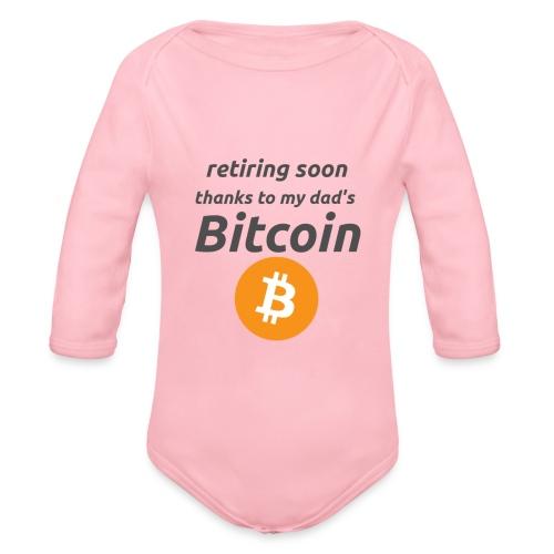 retiring soon - bitcoin  - Body ecologico per neonato a manica lunga
