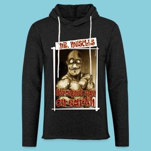 Light Unisex Hoodie Muscle man - Light Unisex Sweatshirt Hoodie