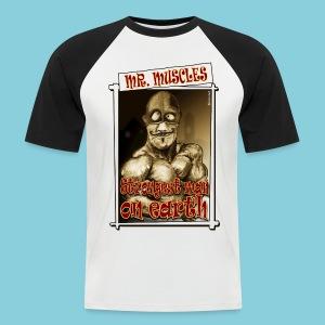 Men's Baseball T-Shirt Muscle man - Men's Baseball T-Shirt