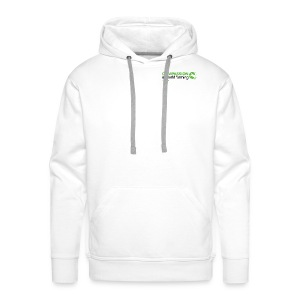 Men's hooded top with large logo on back - Men's Premium Hoodie