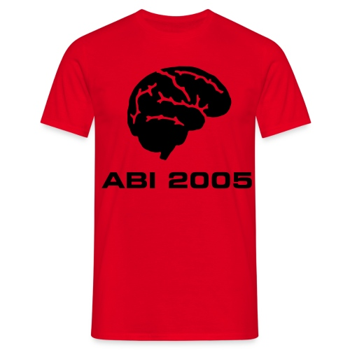Abi T-Shirt in rot - Männer T-Shirt