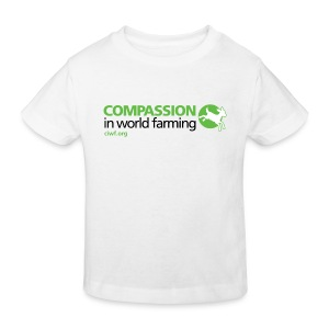 Compassion Logo- Front - Kids' Organic T-shirt