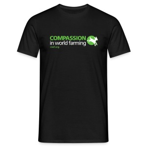 Men's Classic T-shirt with large logo on front - Black - Men's T-Shirt