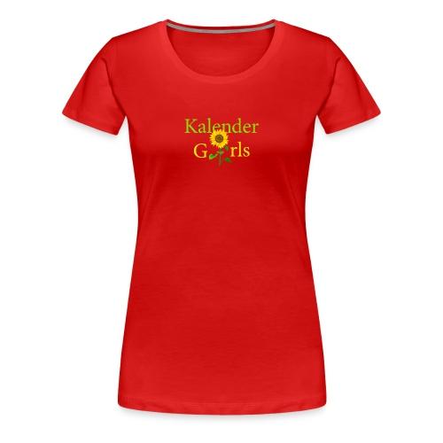 Kalender Girls - T-shirt Damen - Frauen Premium T-Shirt