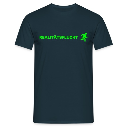 Realitätsflucht [dunkelblau/neongrün] - Männer T-Shirt