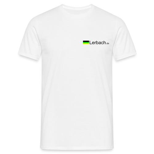 Logo vorn, eigener Text hnten; grau - Männer T-Shirt