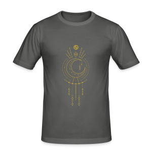T-shirt Tribal S by Sylvermay collection (Gris graphite/Asphalt) - Men's Slim Fit T-Shirt