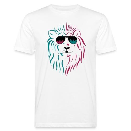 Löwe mit Sonnenbrille - Männer Bio-T-Shirt