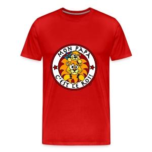 T-shirt P Homme Lion, Papa Roi, Fête des Pères - T-shirt Premium Homme
