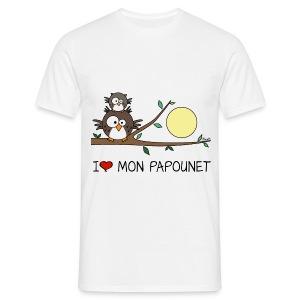Papa Hibou, I love mon Papounet, Fête des Pères - T-shirt Homme
