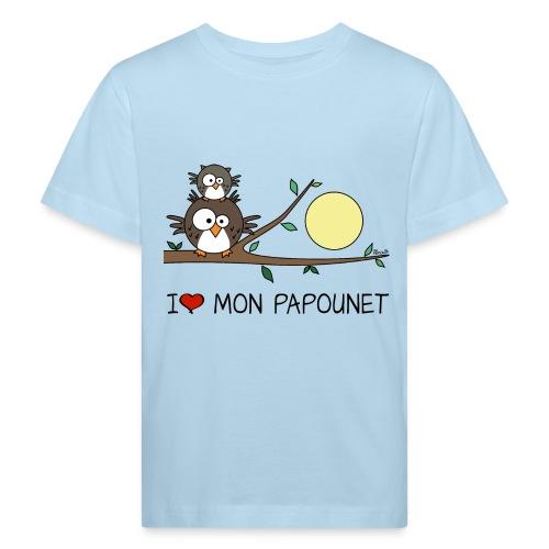 T-shirt Bio Enf Papa Hibou, Papounet, Fête des Pères - T-shirt bio Enfant