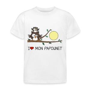 T-shirt BC Enf Papa Hibou, Papounet, Fête des Pères - T-shirt Enfant