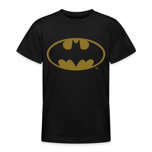 DC Comics Batman Logo in gold-metallic Optik - Teenager T-Shirt