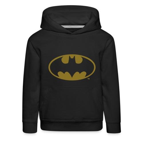 DC Comics Batman Logo in gold-metallic Optik - Kinder Premium Hoodie