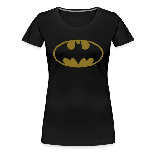 DC Comics Batman Logo in gold-metallic Optik - Frauen Premium T-Shirt