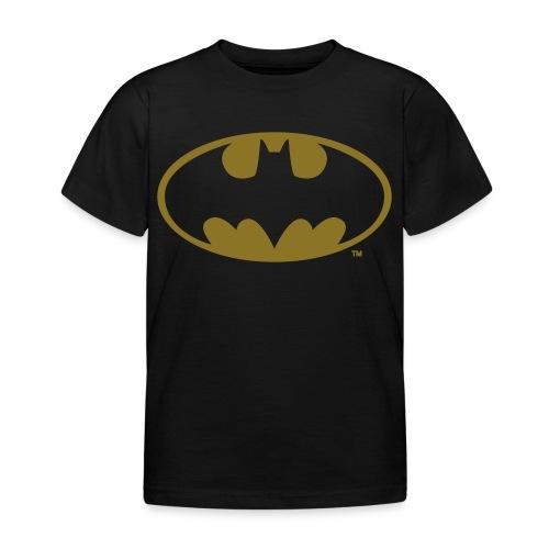 DC Comics Batman Logo in gold-metallic Optik - Kinder T-Shirt