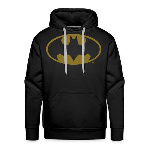 DC Comics Batman Logo in gold-metallic Optik - Männer Premium Hoodie