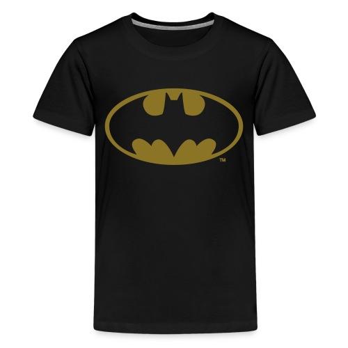 DC Comics Batman Logo in gold-metallic Optik - Teenager Premium T-Shirt