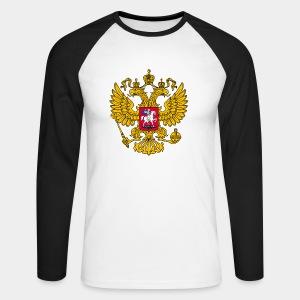 Russland-Wappen / Герб России - Männer Baseballshirt langarm