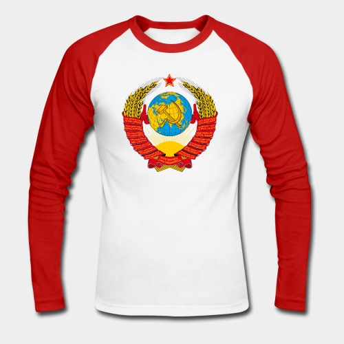 UdSSR-Wappen / Герб СССР - Männer Baseballshirt langarm