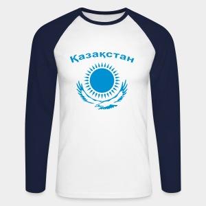 Казахстан / Kasachstan - Männer Baseballshirt langarm