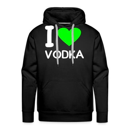 I love Vodka - Herre Premium hættetrøje