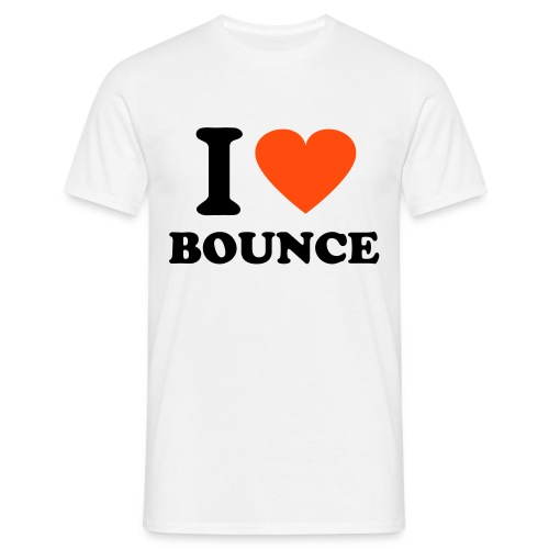 I love bounce t-shirt (white) - Men's T-Shirt