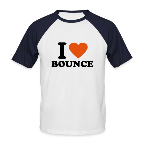 I love bounce tshirt (white/navy) - Men's Baseball T-Shirt