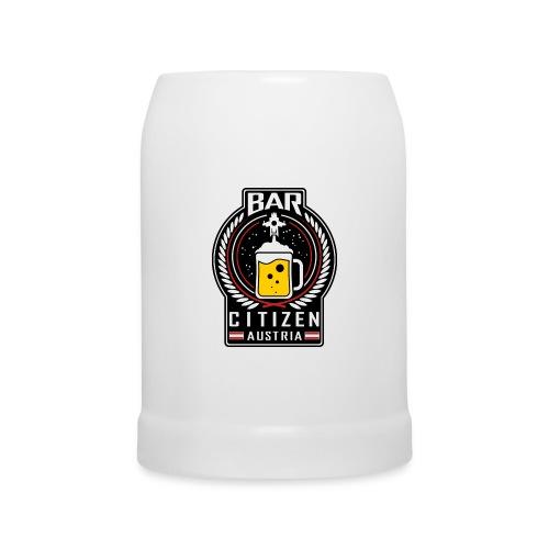 Bar Citizen Austria Bierkrug mit Isfa und StarCitizen-Logo - Bierkrug