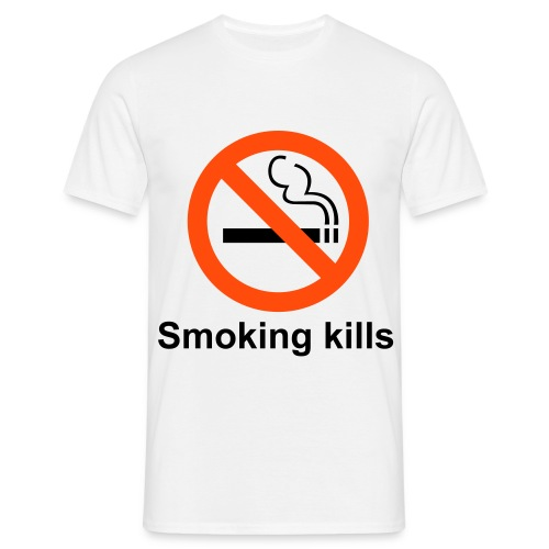 Smoking kills - T-skjorte for menn