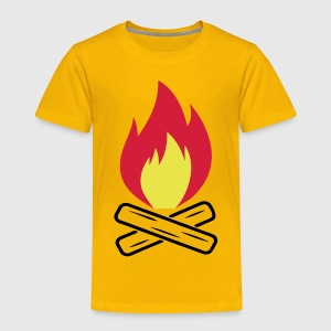 Lagerfeuer Feuer Camping Wald 3c T-Shirts - Kinder Premium T-Shirt