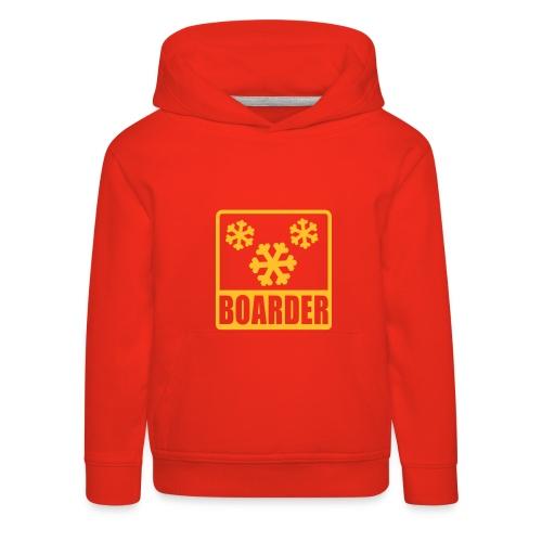 Pullover Kids Snowboarder - Kinder Premium Hoodie