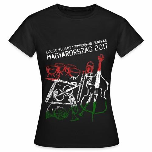 Ungarn Shirt Mädchen Dunkel - Frauen T-Shirt