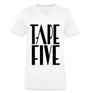 TAPE FIVE logo grande II, male - Men's Organic V-Neck T-Shirt by Stanley & Stella