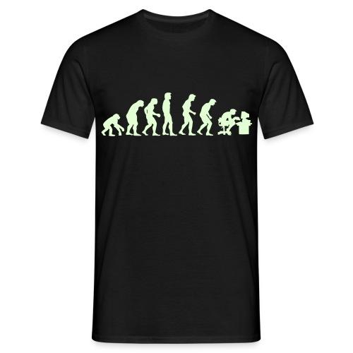 Evolucion - Brilla en la oscuridad - Camiseta hombre