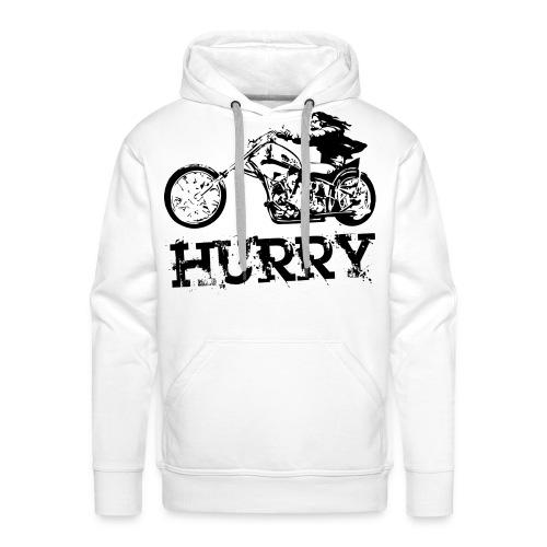 Kaputzenpullover mit Biker-Motiv - Männer Premium Hoodie