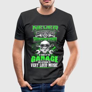 Never underestimate a mechanic - EN T-Shirts - Men's Slim Fit T-Shirt