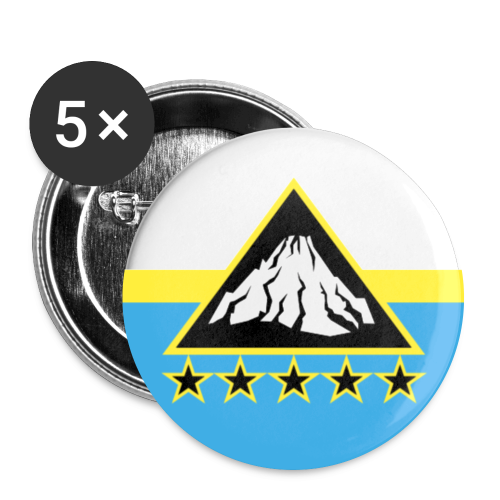 Etnaian Republic Badges x5 - Buttons large 56 mm