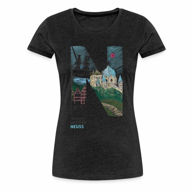 """""""Immer wieder Neuss"""" Frauen T-shirt"""