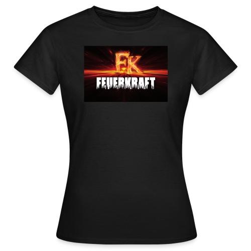 Lady Shirt FK-Flammen vorne, Schriftzug hinten - Frauen T-Shirt