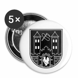 Suhl Wappen (weiß) - Buttons medium 32 mm