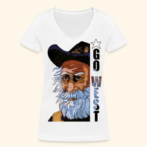 Go West - T-shirt bio col V Stanley & Stella Femme