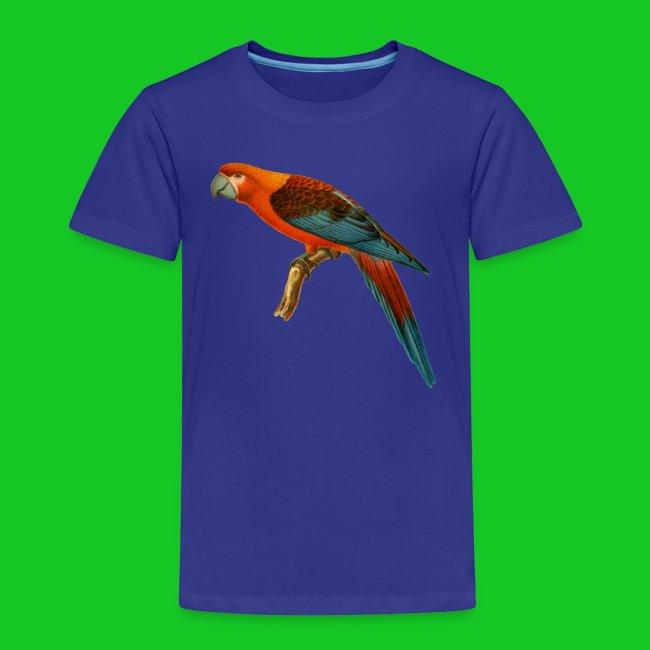 Papagaai kinder t-shirt