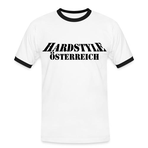 T-Shirt Weiß-Schwarz - Männer Kontrast-T-Shirt