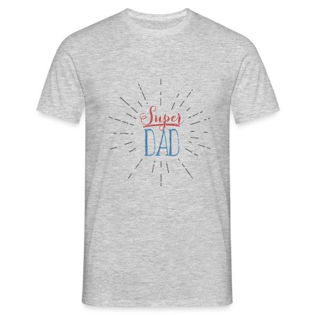 tee shirt super dad  // Men