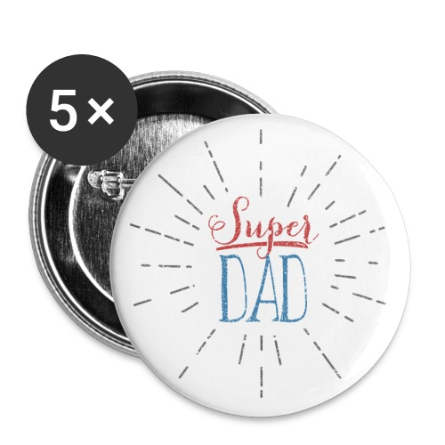 badge Super Dad - Badge grand 56 mm